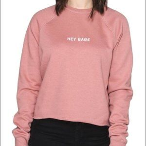 Brunette The Label Hey Babe pink Pullover sweater